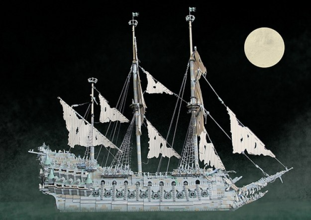 This incredible custom LEGO Flying Dutchman from the Pirates of the Caribbean is over 3 feet long