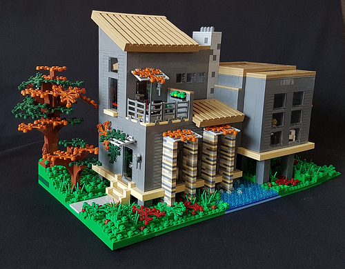 Who wouldnt want to live in this LEGO house  The