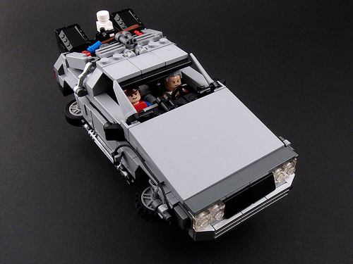 BTTF Part II Time Machine - Flying