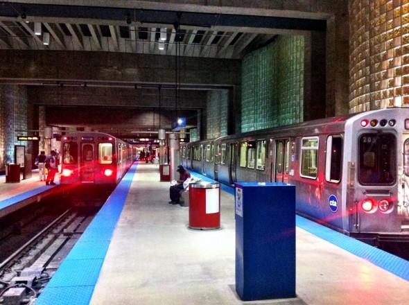 Estación O-Hare Blue en Chicago. Foto: Joseph Lemon/Metro.