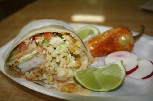 Burritos de camarón  (Foto Agustín Durán/El Pasajero)