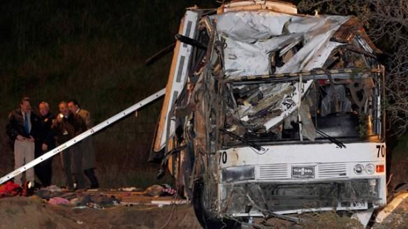 El autobús transportaba a 38 turistas mexicanos que habían salido de Tijuana para ir a Big Bear.