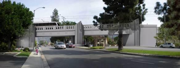 Ilustración del futuro puente sobre Santa Anita Avenue.
