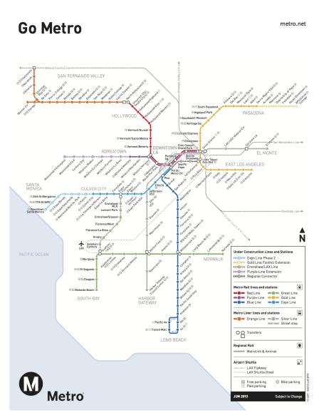 Mapa Metro Rail