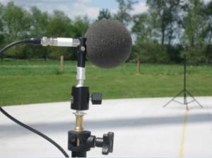 Micrófono para monitorear el sonido.