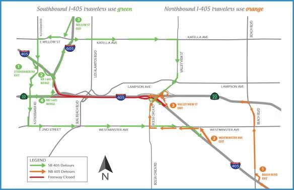 Mapa I-405