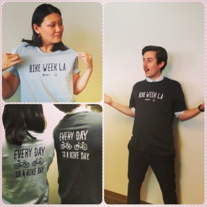 Edición limitada de camisetas con el logo de la Semana de la Bicicleta.