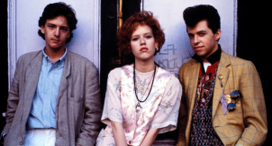 "Escena del fime ""Pretty in Pink""."