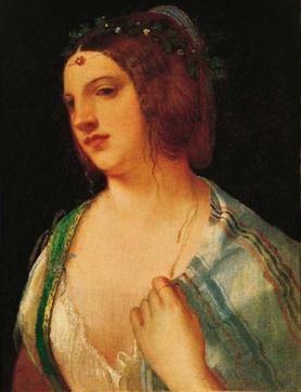 Retrato de una cortesana, del pintor italiano Giorgione en la nueva exhibición del Museo Norton Simon.