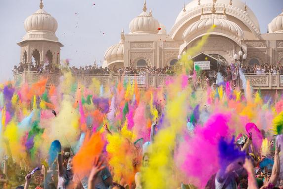 Holi Festival of Color en Utah. Foto: Chris Chabat via Flickr cc.