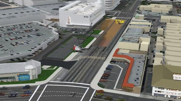 Ilustración de la estación subterránea Crenshaw/MLK.