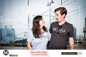 Foto del evento de Noche de Bicicletas del año pasado.