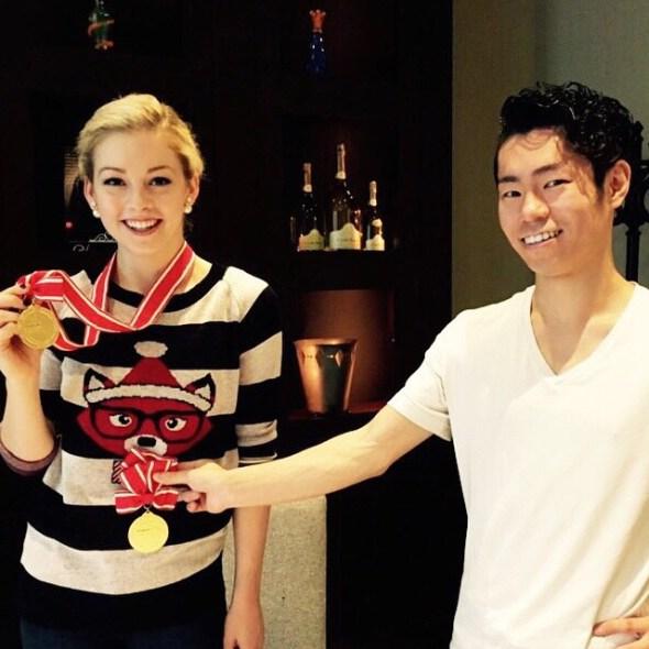 Gracie Gold and Daisuke Murakami.