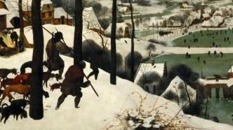 """""""Hunters in the Snow"""" de Pieter Bruegel."""