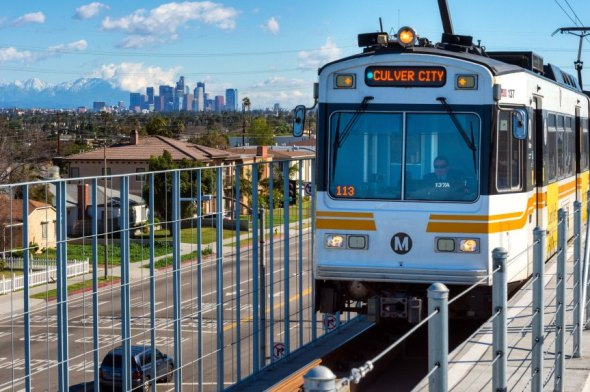 Una bonita vista desde la Línea Expo. Foto: Steve Hamon/Metro.