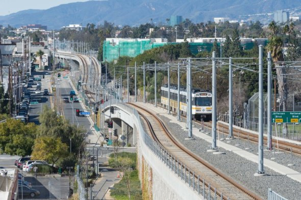Línea Expo. Foto: Steve Hymon/Metro.