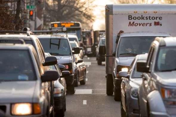 El tráfico se agravó en Washington D.C. por el cierre del sistema del subterráneo. Foto: USA Today.