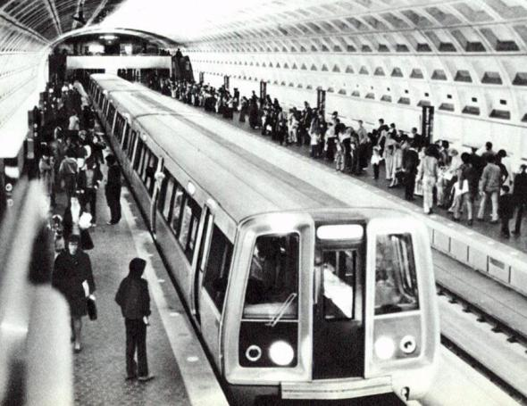 El Metro de Washington en 1976.