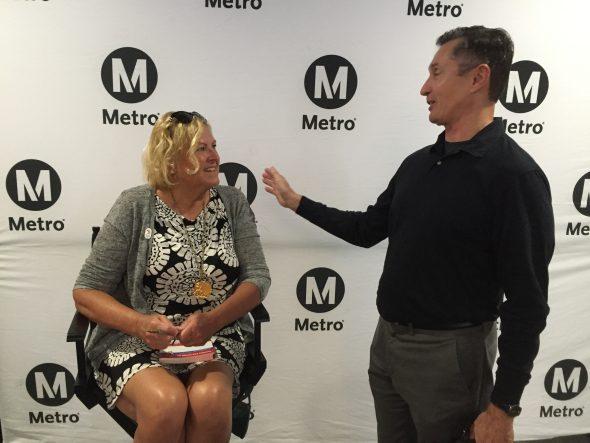 Shirley Babashoff ayer, en Union Station. Foto: Metro.