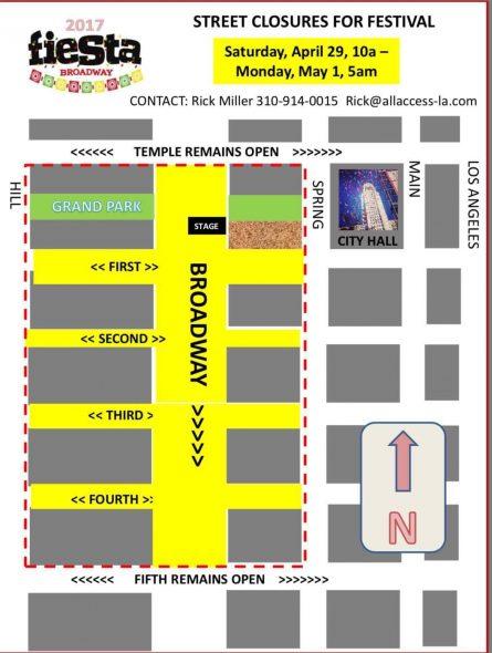 mapa Broadway