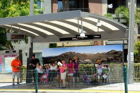 At Canoga Station