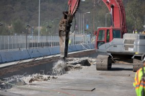 I-405 Closure Construction Photos