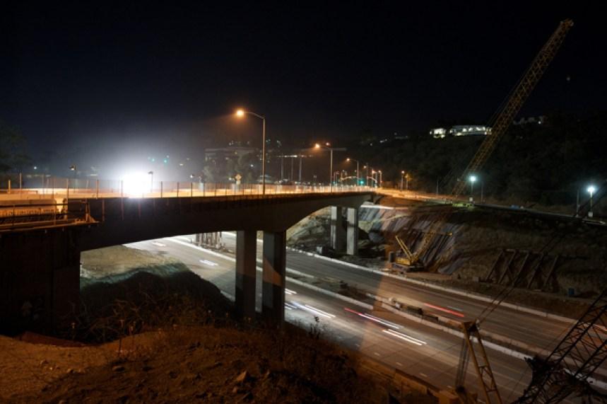 I-405 Closure Construction Photos, Sept 28-30