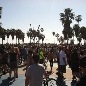 The finish line at Venice. Photo by Heidi Zeller/Metro