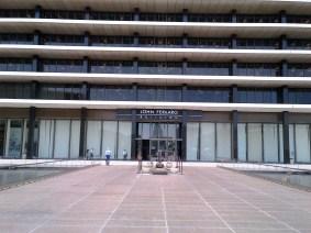 The entrance to the John Ferraro Building.