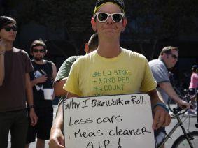 Less cars mean cleaner air