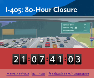 After two Carmageddons, there was one final big closure of the I-405 Sepulveda Pass Improvements Project when the northbound lanes were closed or reduced for 80 hours in February for repaving and other work.