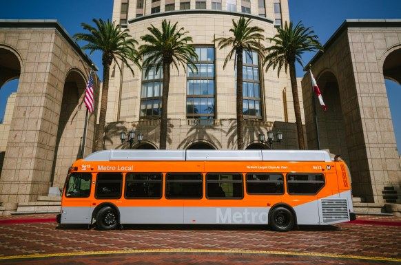 Metro debuted the first of its 550 New Flyer buses in February. Photo by Steve Hymon/Metro.