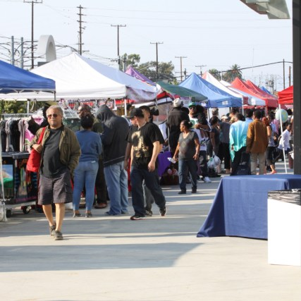 The Blue Line Farmer's Market is located just off the Metro Blue Line at Compton Station. (Image via City of Compton)