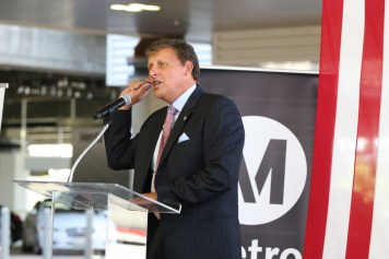 Metro Board Member Ara Najarian at the grand opening. Photo: Paul Gonzales/Metro