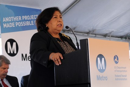 Supervisor and Metro Board Member Gloria Molina.