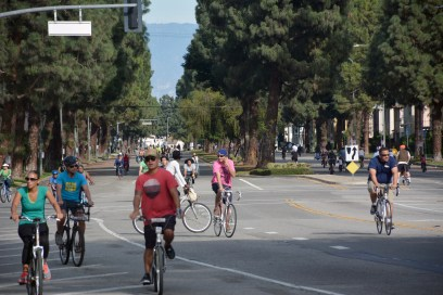 Leimert Boulevard at CicLAvia South L.A. (Photo: Joseph Lemon/Metro)