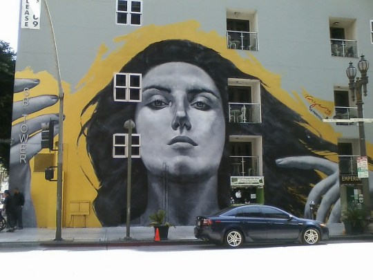 """Our Lady of DTLA"" by Robert Vargas, captured by Atomic HotLinks via Flickr/CC."