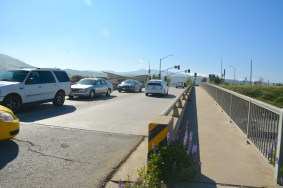 The Lost Hills Road overpass as it looks currently.