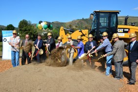 Director Najarian (third from left) and local officials mark the start of construction for the Lost Hills Rd. Interchange Project.