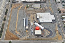 An aerial view of the new maintenance campus. Photo: Gold Line Foothill Extension Construction Authority.