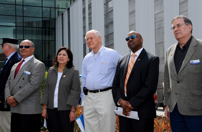From left, Construction Authority Board Member Paul Leon, Metro Board Members Hilda Solis and Michael D. Antonovich, Metro CEO Phil Washington and Metro Board Member John Fasana.
