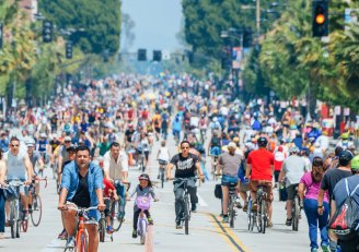 A past Open Streets event in Pasadena.