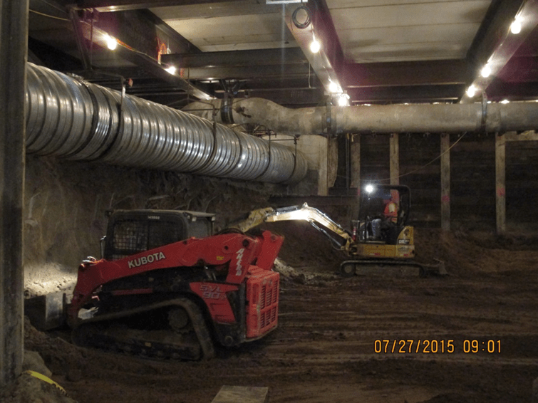 Vernon Station-On going excavation operations