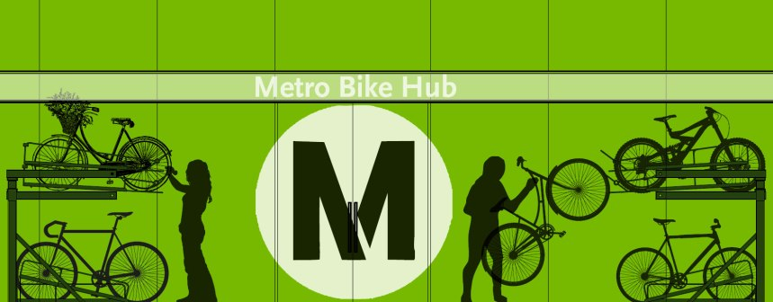 The late Fernando Vazquez was hired to design the Metro Bike Hubs at El Monte, Hollywood/Vine and Culver City. Vasquez was the same designer for the Long Beach Bikestation which opened in 1996. Sadly, Mr. Vazquez passed away this last April but his design is impressive for its striking quality and is significant for bike parking, transit and sustainable transportation design.