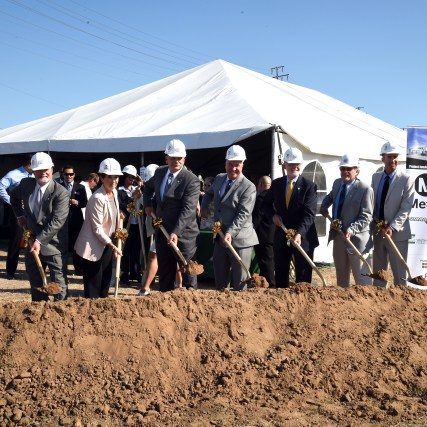 Breaking ground on the Torrance Transit Park and Ride Regional Terminal. Photo: Luis Inzunza/Metro