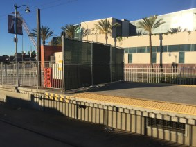 South entrance to Little Tokyo/Arts District Station remains closed for future Regional Connector construction work.