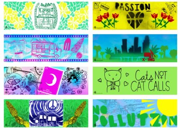 Banners made as part of the Mi Barrio project.