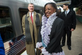 Metro chief of operations Jim Gallagher and Board Member Jacquelyn Dupont-Walker.