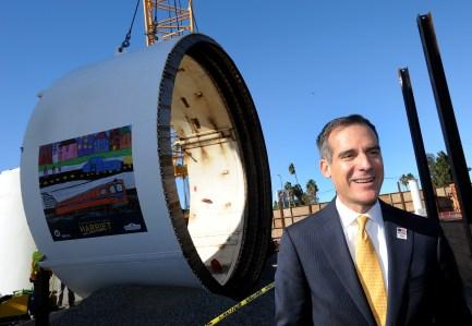 Metro Board Member and L.A. Mayor Eric Garcetti.