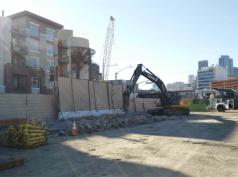 Demolition of existing Gold Line track.